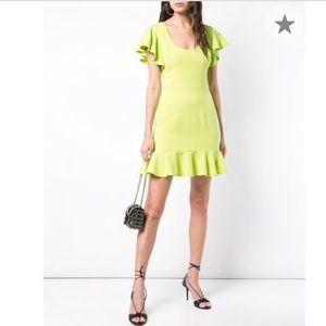 Black Halo Ruffe Mini Dress